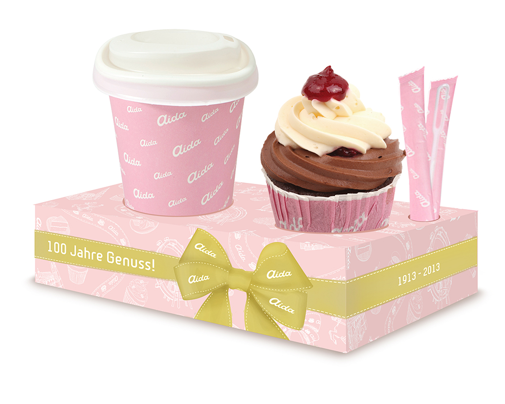 Coffee to go & Cupcake-Box