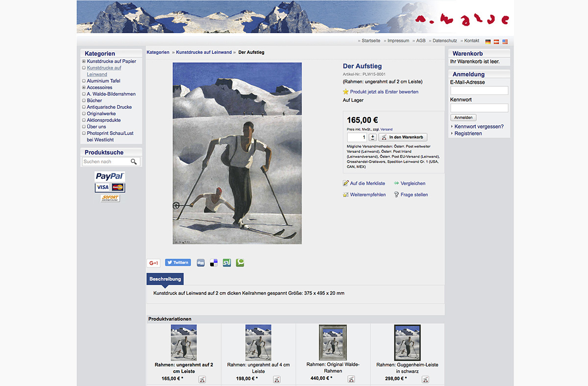 Onlineshop Walde Kunstverlag
